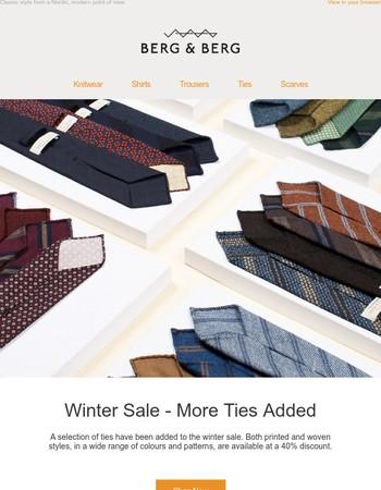 Winter Sale - More Ties Added