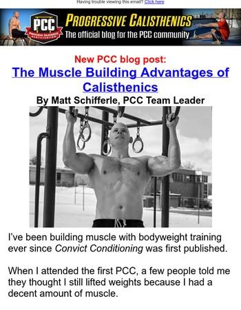 PCC Blog: The Muscle Building Advantages of Calisthenics by Matt Shifferle, PCC Team Leader