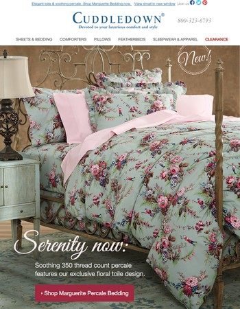 NEW Bedding & Sleepwear, plus our Winter White Sale Ends Soon!