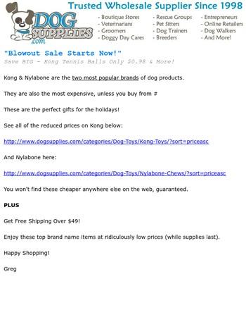 Kong & Nylabone - Clearance Sale Starts Today!