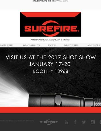 Visit Us at SHOT Show Booth #13968