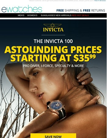 Have You Seen the Invicta 100 Yet?