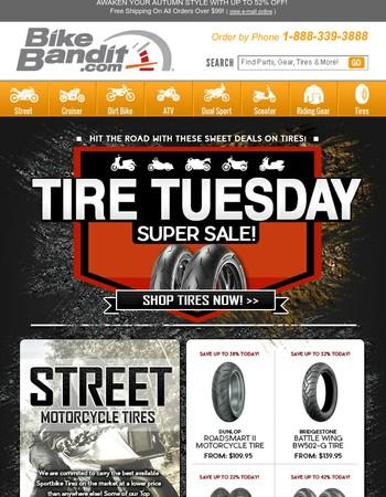 Tire Sale Tuesday! Burn Rubber Not Cash!