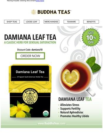 Damiana: An Aphrodisiac Tea for Stamina and Libido