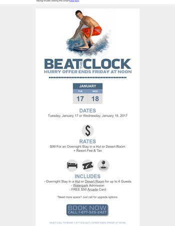 $99 Beat the Clock Deal