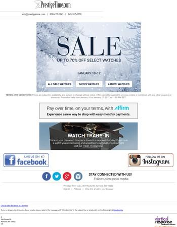 Huge Savings! Mega Winter Sale Starts Today