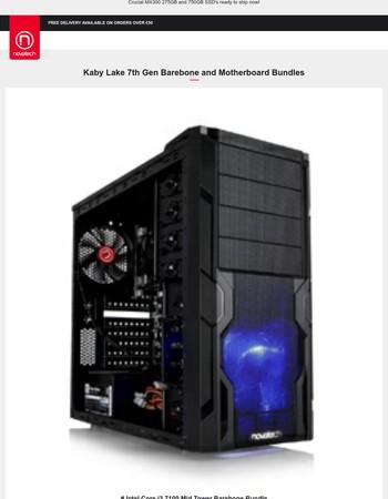 7th Gen Kaby Lake Intel Motherboard and Barebone Bundles