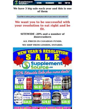 SupplementSource.ca Newsletter