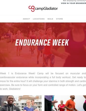 Week 1: Endurance