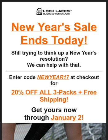 New Year's Sale Ends Today!