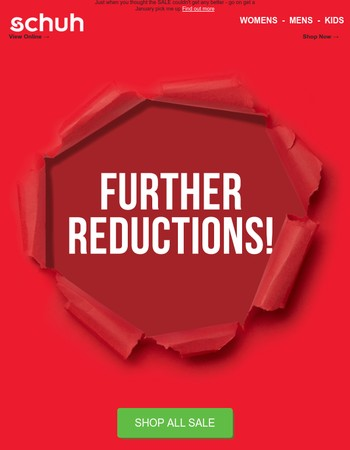 Our Sale is off the scale - Further Reductions!