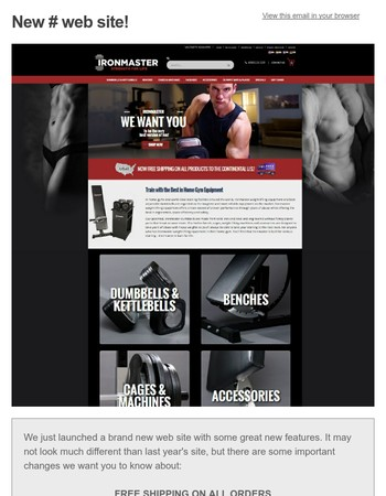 Free Shipping and Custom Package Builder at Ironmaster