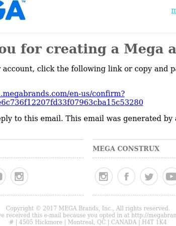 Please activate your Mega Bloks account