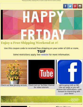 Free Shipping Weekend!
