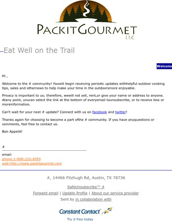 Thank you for subscribing to Packit Gourmet!