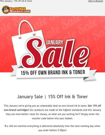 January Sale 15% off