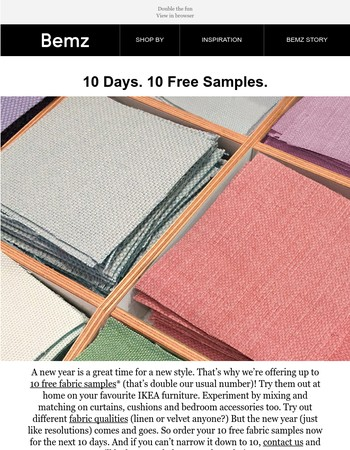 10 Days. 10 Free Samples.