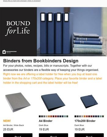 Binders from Bookbinders Design