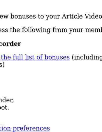 Update: New bonus