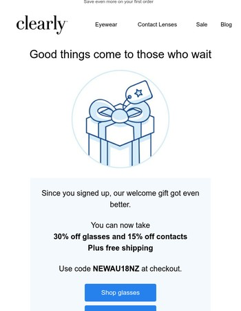 Your exclusive discount just got better