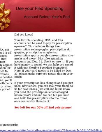 Use your FSA Money before Dec. 31st!