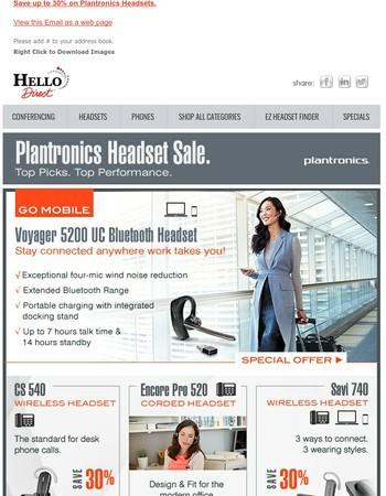 Top Picks. Plantronics Headset Sale.