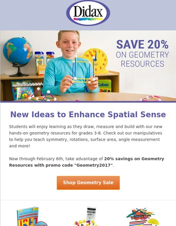 New Hands-On Geometry Resources