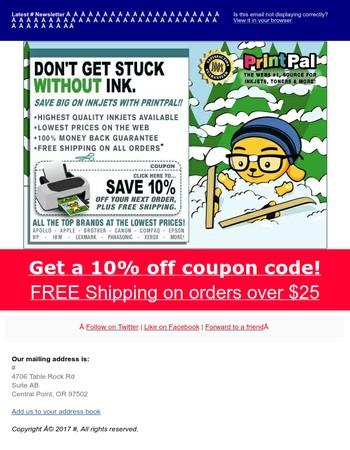 New Year - Printer Ink coupon