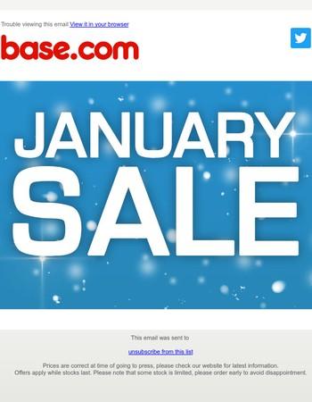 Base.com's January Sale is now on!