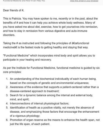 How Functional Medicine Improves Wellness