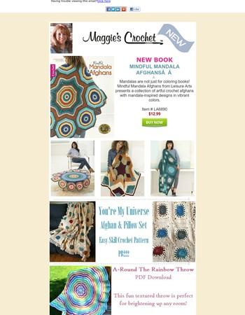 NEW Mindful Mandala Afghans + Daily Deal, Winner & FREE Pattern
