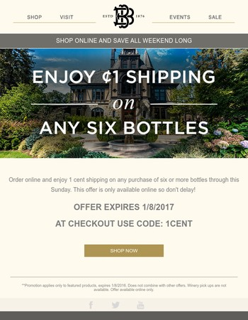 Enjoy 1 Cent Shipping All Weekend