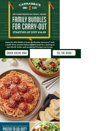Feed the family a football feast