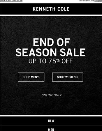FINAL CALL: End of Season Sale ends soon!