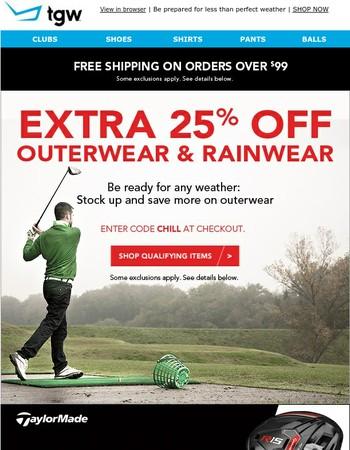 Big 25% Savings When You Shop Outerwear
