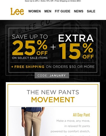 KEEP YOUR PANTS ON.