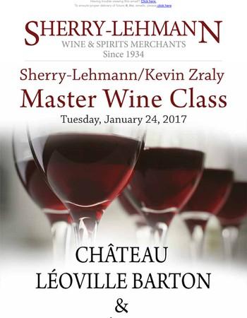 Join us for a Château Léoville Barton and Château Langoa Barton Master Class!