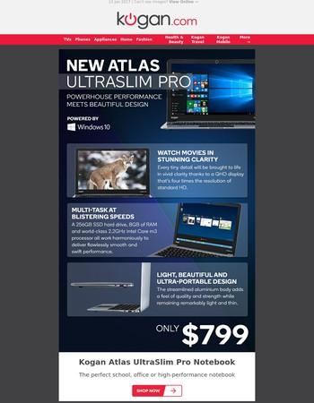 NEW UltraSlim Pro Notebook $799 - Thinner Than MacBook Air!