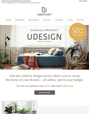 Introducing: UDESIGN – our new online interior design service.