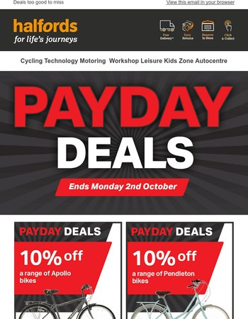 Hurry! Payday Deals end tomorrow!