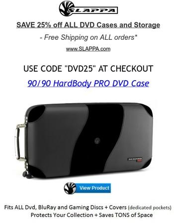 25% off ALL DVD Storage