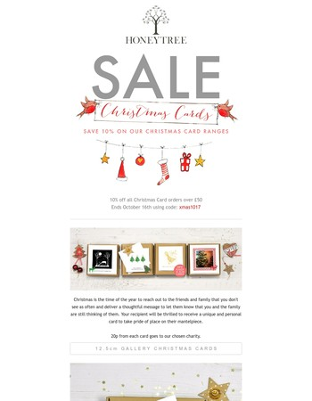 Sale: 10% off our 2017 charity