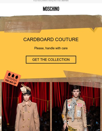 Cardboard Couture: Shop straight from the runway