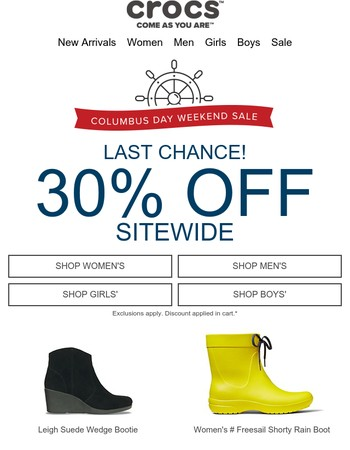 30% OFF sitewide ends soon. Don't miss out!
