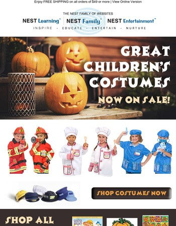 Celebrate October with Costumes + Fall Fun!
