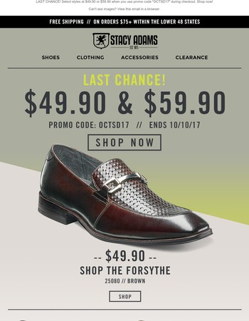 Best prices on these classic dress shoes! Sale ends today!