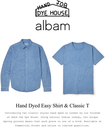 Introducing... Hand Dyed Classic T and Easy Shirt