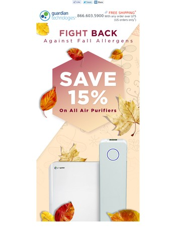 Fresh Air In, Allergens Out! Save 15% On Air Purifiers