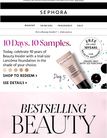 Bestselling beauty & 10 days of samples ❤️
