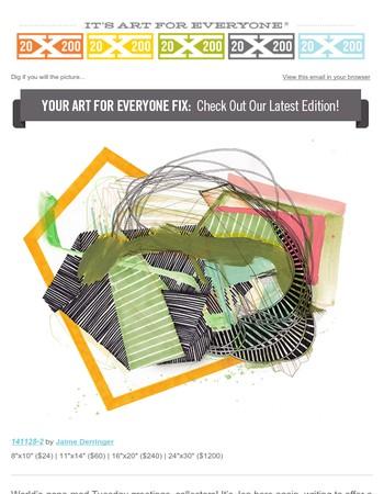 Opposites Abstract: Jaime Derringer's 20x200 Debut!